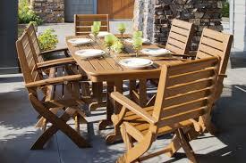 Folding Patio Furniture Set - amazing polywood signature pc dining set with folding chairs
