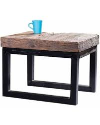 Reclaimed Wood Side Table Slash Prices On Caribou Dane Arbor Reclaimed Wood And Cast Iron