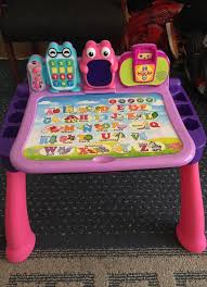 vtech table touch and learn vtech touch learn activity desk deluxe pink games toys in lake