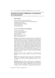 Email Standards For Business Communication by Automotive Industry In Malaysia An Assessment Of Its Development
