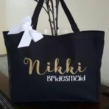 bridesmaid tote bags personalized glam wedding tote bags for bridal bridesmaid