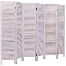 Screen Room Divider Amazon Com Giantex 6 Panel Screen Room Divider Wood Folding