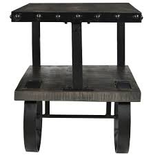 Grey Accent Table Accent Table In Distressed Grey