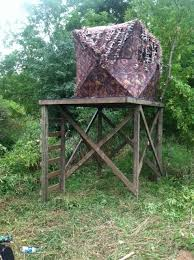Bow Hunting From A Ground Blind Elevated Ground Blind Platform Field U0026 Stream Ideas For The
