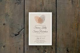 print wedding invitations fingerprint heart wedding invitation feel wedding invitations