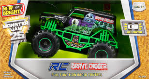 monster trucks grave digger crashes new bright 1 24 scale r c monster jam grave digger walmart com