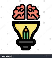 creatively designed creatively designed creative mind vector icon stock vector 749274781