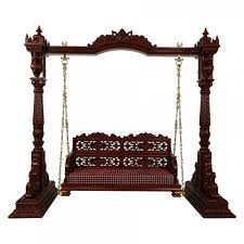 home decor furniture indian traditional jhoola with baby parnu