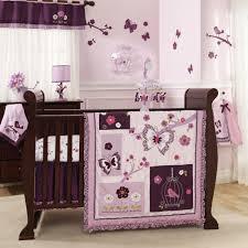 Silk Crib Bedding Set Nursery Beddings Light Purple Toddler Bedding With Light Purple