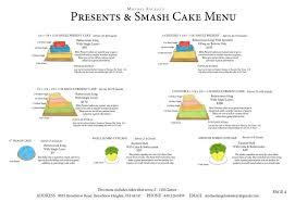 present u0026 smash cake menu michael angelo u0027s bakery