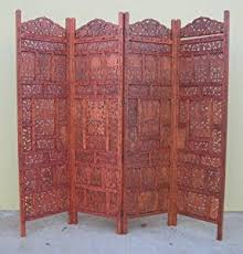 Antique Room Divider by Amazon Com Hand Carved Wooden Room Divider Screenantique Finish