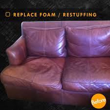 Cushion Padding Materials Restuffing Leather Couch Cushions And Foam Replacement