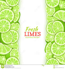 lime slice silhouette lime fruit vertical seamless border vector illustration card top