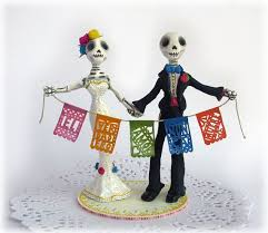 day of the dead wedding cake topper rustic mexican day of the dead wedding cake topper i the