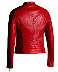 genuine leather motorcycle jacket red leather jacket for women moto fashion genuine leather jacket