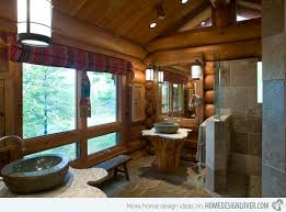 Log Home Bathroom Ideas Colors 15 Bathroom Designs Of Rustic Elegance Home Design Lover