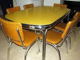 retro yellow kitchen table vintage kitchen table ebay glamorous chrome kitchen table home