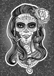 sugar skull stock vector illustration of hair 79188319