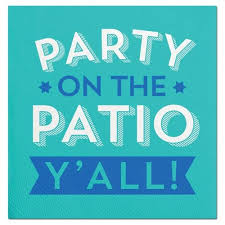 Party Cocktail Napkins - party on the patio y u0027all paper party cocktail napkins 20 ct