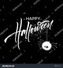 happy halloween lettering holiday calligraphy banner stock vector