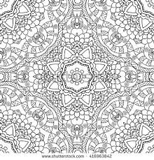 coloring pages adults coloring bookdecorative hand stock vector