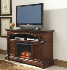 traditional large tv stand with fireplace insert by signature