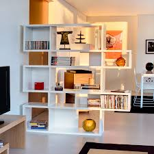 london white double modern bookcase eurway furniture