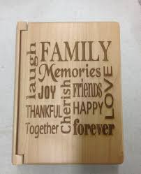 engraved photo albums laser engraved maple wood family photo album by