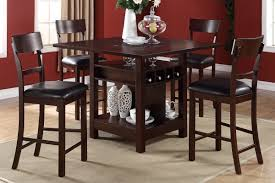 dining table with wine storage dining table set f2347 f1207 bb s furniture store