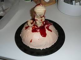 alien chest burster baby shower cake geeky cake