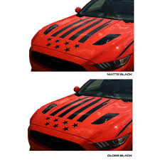 Us Flag Decal Mustang Hood Decal Kit Tattered American Flag V6 Ecoboost Gt 2015 2017