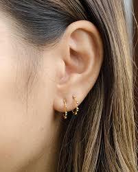 hoop studs hoop stud earrings sterling silver gold plated open hoop