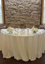 Sweet Heart Table In Bloom Florist Weddings All White Sweetheart Table Flowers