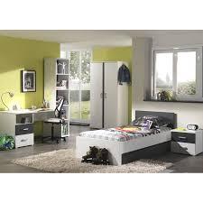 chambre complete enfant chambre complète enfant 6p josh blanc gris
