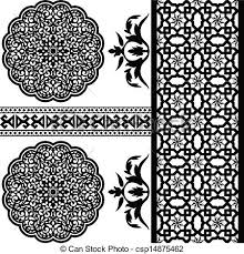 pattern clip art images vector of different islamic pattern on white backgraund clip art