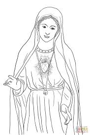 immaculate heart of mary coloring page free printable coloring pages