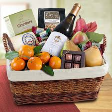 wine basket grand abundance wine and fruit gift basket wa400x a gift inside