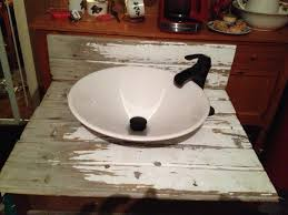 Bathroom Counter Top Ideas Bathroom Countertop We Made From Old Tongue And Groove Barn Wood