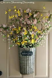 front door decorations spring chic shoestring decorating decor