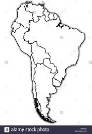 Map Of Sounth America by Old Political Map Of South America With Country Territories Stock