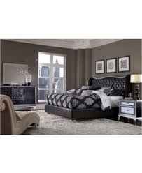 Hollywood Bedroom Set by Aico Michael Amini Hollywood Swank Starry Night Upholstered Bed King