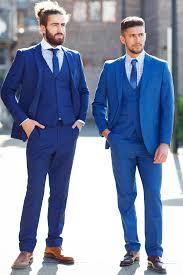 mens suit cobalt blue evening three suit marc darcy