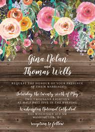 boho country wedding invitation rustic floral wedding invitation