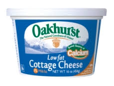 Cottage Cheese Low Fat oakhurst dairy lowfat cottage cheese