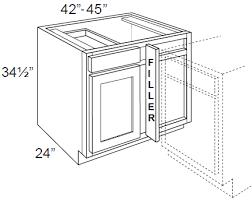 blind corner base cabinet dakota espresso 42 45 blind base corner cabinet blind corner
