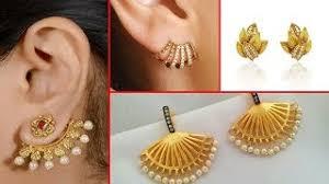 stylish gold earrings daily wear 2 3 gm gold earrings design ideas gold earring