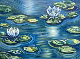 blue lilies neon lilies kornfeld
