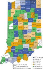 indiana map us the great recession s influence on indiana s wood products