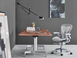 Herman Miller Adjustable Height Desk by Aeron Chair Herman Miller