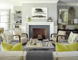 Gray And Green Contemporary Decor Living Room Grey Living Rooms - Green living room ideas decorating